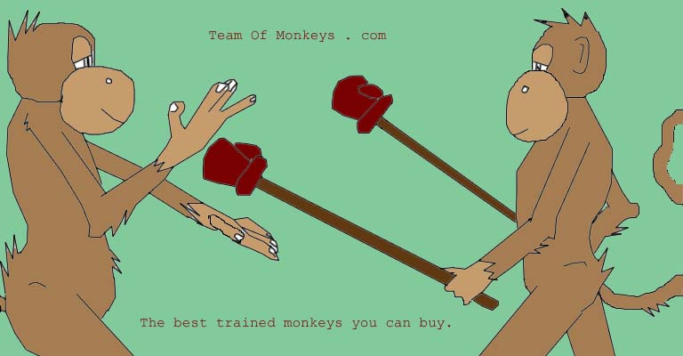 non fighting samurai monkeys